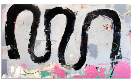 "Coming Soon ... 48"" x 84"" Acrylics on wood panel."